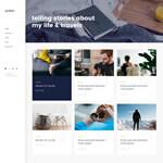 Blog with left menu